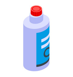 Bleach bottle icon isometric style vector