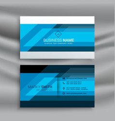 Blue professional business card design vector