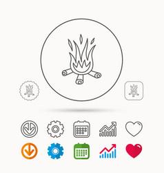 Bonfire icon fire sign vector