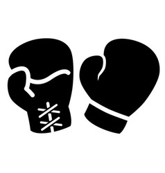 boxing gloves icon vector image