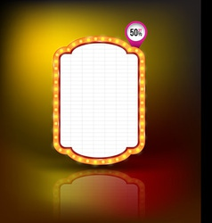 Brightly glowing retro banner Retro Banner Promoti vector