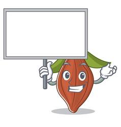 Bring board cacao bean character cartoon vector
