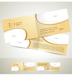 brochure design template booklet biege curve line vector image