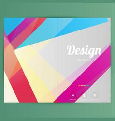 Brochure design template geometric shapes vector