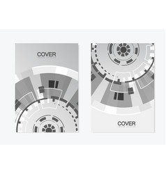brochure with abstract round structure technology vector image