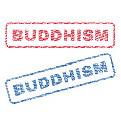 Buddhism textile stamps vector