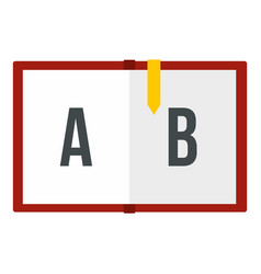 children abc icon isolated vector image