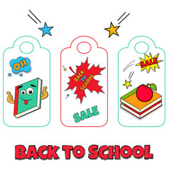 Collection of funny tags back to school vector