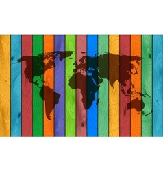 Color wood map vector