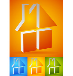 colorful home house icons logos to real estate vector image