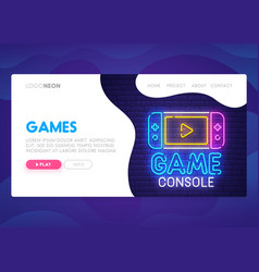 Colorful landing page mock up website vector