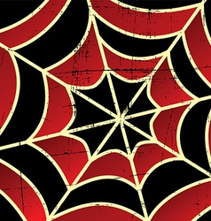 colorful spider web art vector image