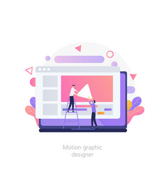 Computer animation designer motion graphic design vector