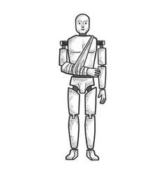 Crash test dummy sketch vector