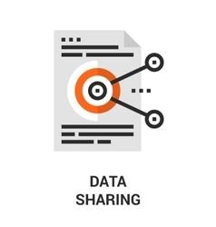 data sharing icon vector image