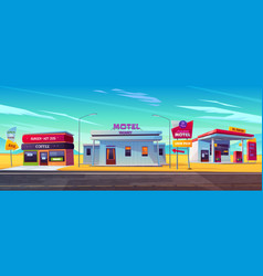 day and night comfortable motel accommodation vector image