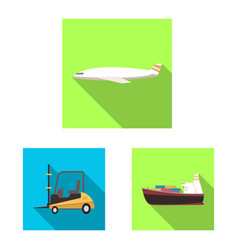 design goods and cargo logo collection vector image