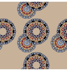 Endless ornate pattern made of indian mandalas vector image