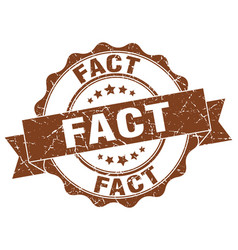 Fact stamp sign seal vector