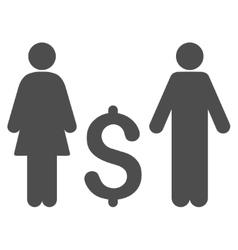 Family dollar flat icon vector