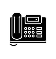 Fax device black icon concept vector