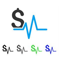 Financial pulse flat icon vector