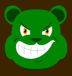 Flat icon on theme evil animal angry bear vector