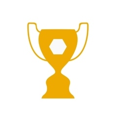 Flat icon on white background football cup vector