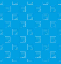 folder with table excel pattern seamless vector image