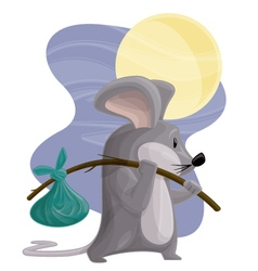Hobo Mouse vector image