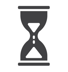 hourglass glyph icon web and mobile busy sign vector image