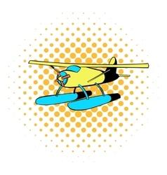 Hydroplane icon comics style vector