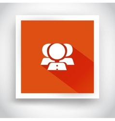 Icon of contacts for web and mobile applications vector image
