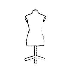 isolated mannequin body vector image