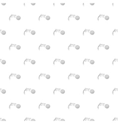 Kick of golf ball pattern cartoon style vector image