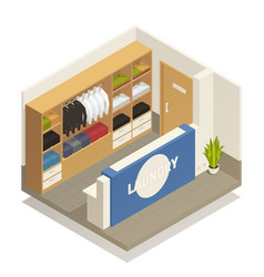 Laundry isometric composition vector