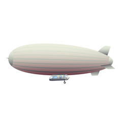 Legendary huge zeppelin airship filled with vector
