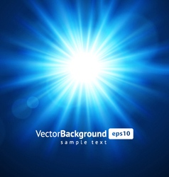lens flare light vector image vector image
