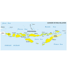 lesser sunda islands map vector image