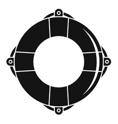Life buoy ring icon simple style vector