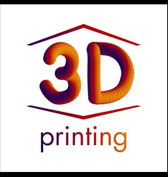 logo 3d printing and 3d pens vector image