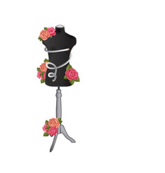 mannequin for sewing clothes with flowers vector image