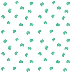 Mint leaves seamless pattern background texture vector