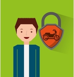 motorcycle insurance concept icon vector image