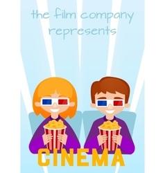 Moviegoers vector image