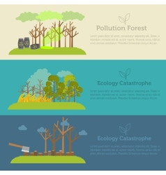 Nature issue deforestation fire tree and vector