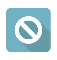 NO sign square icon vector image