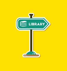Paper sticker on stylish background sign library vector