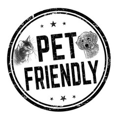 pet friendly sign or stamp vector image