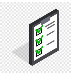 Plan is executed isometric icon vector